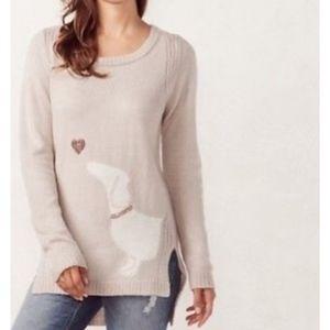 LC Lauren Conrad High-Low Crewneck Sweater New